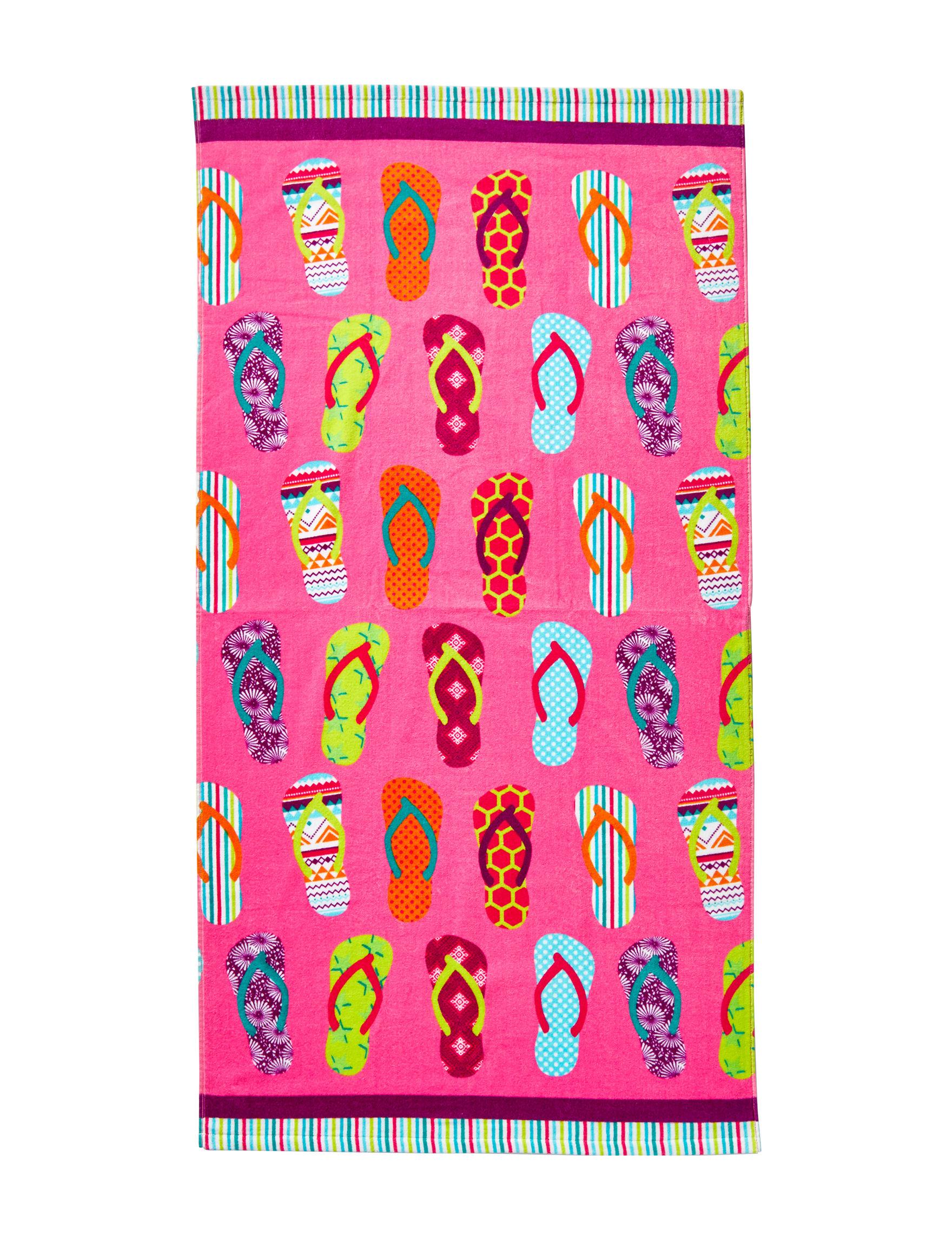 Print Velour Beach Towels