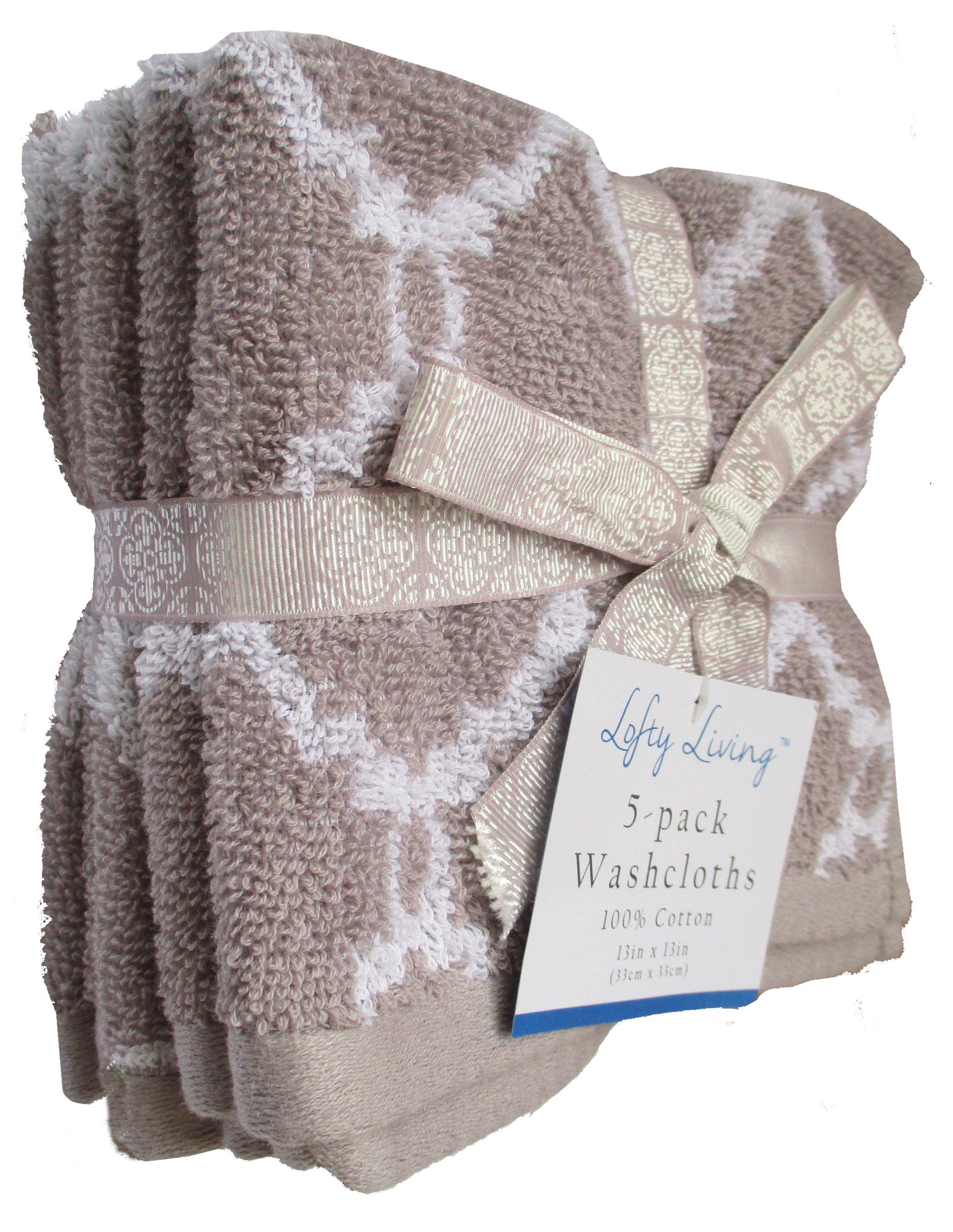 Jacquard Washcloth Set