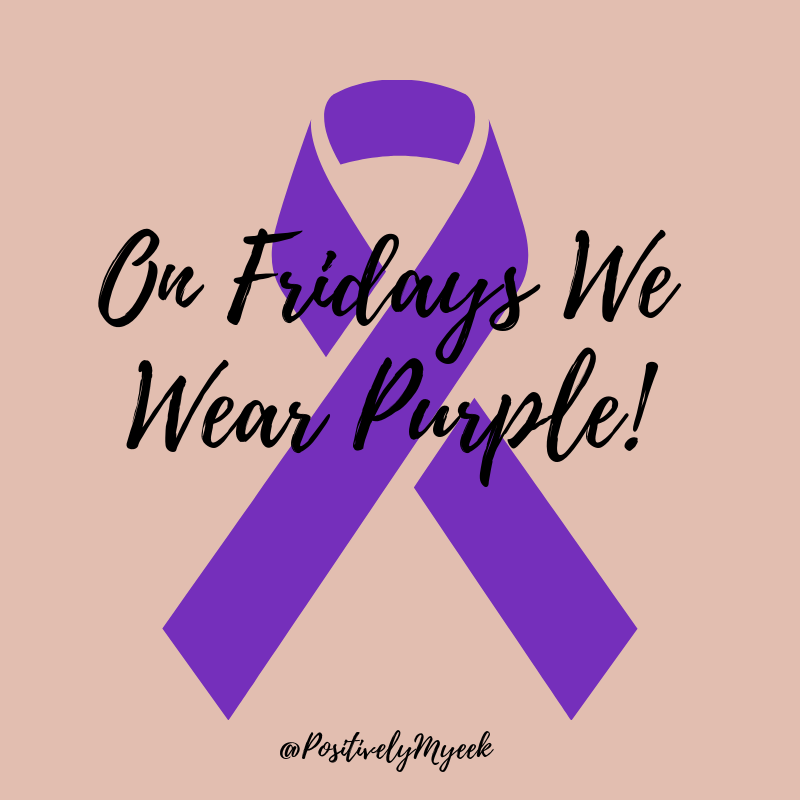 Every Friday in October you can catch me in Purple