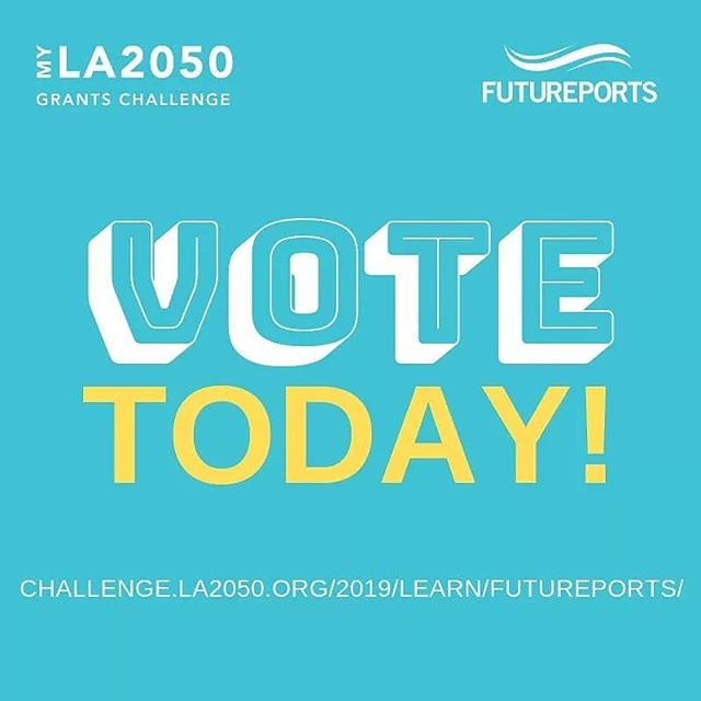 Have you voted yet? Today is the last day to VOTE for FuturePorts to win $100,000 to make LA the best place to LEARN! Don't wait! PLEASE click the link in our bio to VOTE now! . . . @la2050  #myla2050grantschallenge #LA2050 #LEARN #futureports #supplychain #CHILDREN #EDUCATION #jobs #nonprofit #vote