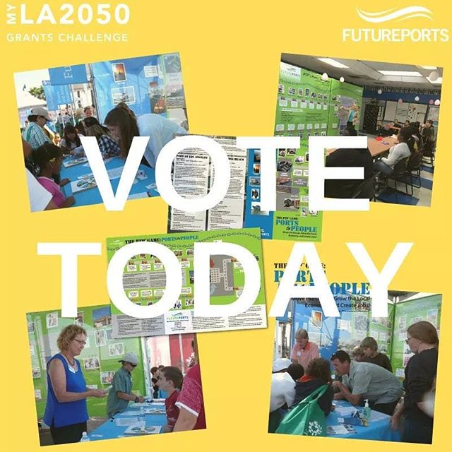 Last chance to vote for FuturePorts in the #MyLA2050GrantsChallenge! PLEASE VOTE by 5pm TODAY for FuturePorts to win $100K and a partnership with @la2050 and @discoverycubela to make Los Angeles the best place to LEARN about the Sustainable Supply Chain! *Link in our bio to VOTE* . . . . . #LEARN #CHILDREN #EDUCATION #jobs #CAREERS #supplychain #LOSANGELES #nonprofit #vote