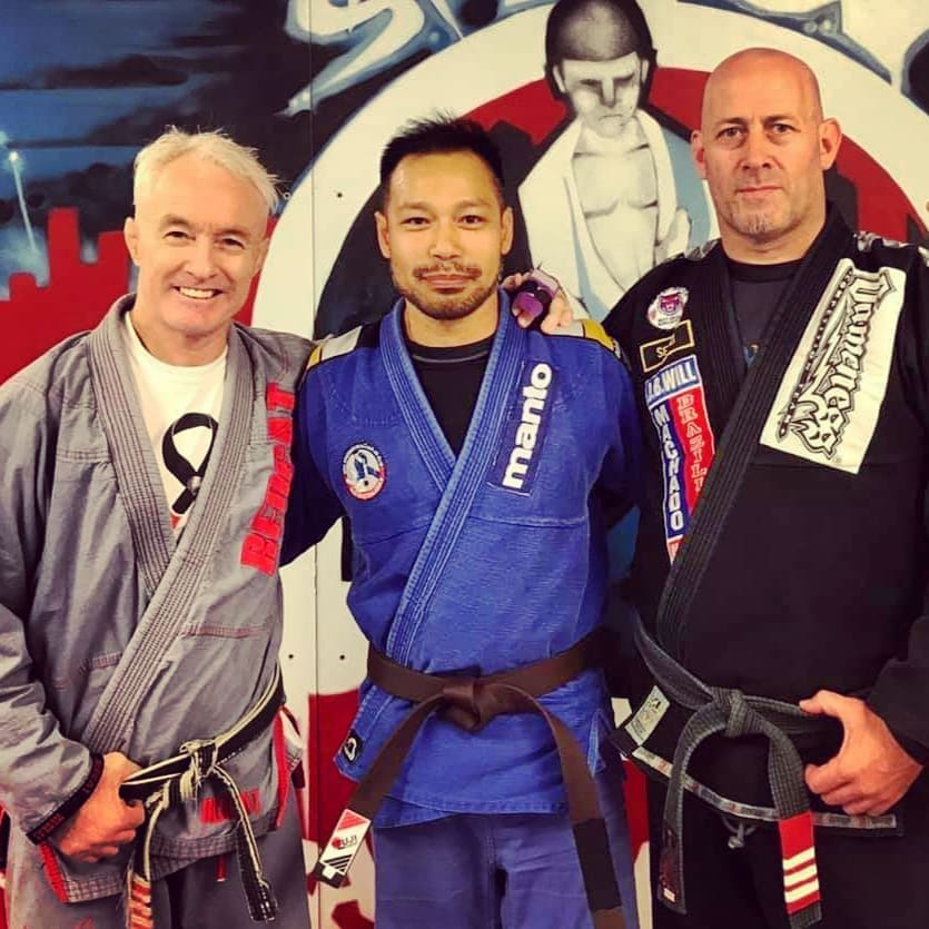 John Will (Head of Will / Machado affiliation), Phan Wilkie (Masterton BJJ's brown belt), and Geoff Grant (3rd degree black belt / owner of GSW).