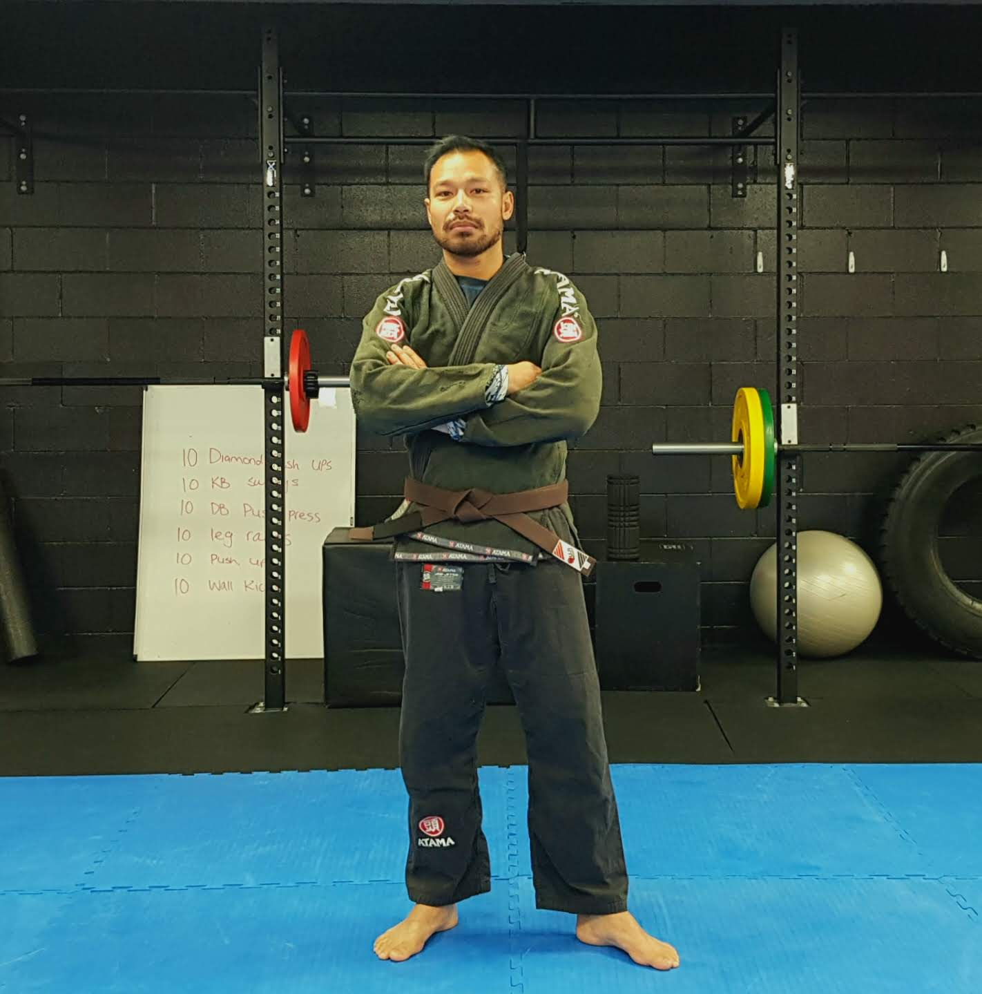 Phan Wilkie - Phan is our resident brown belt in Brazilian Jiu-Jitsu. He was awarded his brown belt by Geoff Grant - 3rd degree black belt under the Will Machado affiliation headed by John Will, in April 2019.Phan has been seriously involved in BJJ since 2010. After his first session, Phan quickly fell in love with BJJ due to the breadth and depth of the art, as well as the other benefits which carry over to the outside of the mat (problem-solving, tenacity and fitness to name a few) or what he calls 'BJJ Lifestyle'.Having moved from Auckland recently for the lifestyle and scenery that the Wairarapa has to offer, he's keen to get involved with the community by helping those who are keen to get started on the BJJ journey and strengthen their BJJ technique.