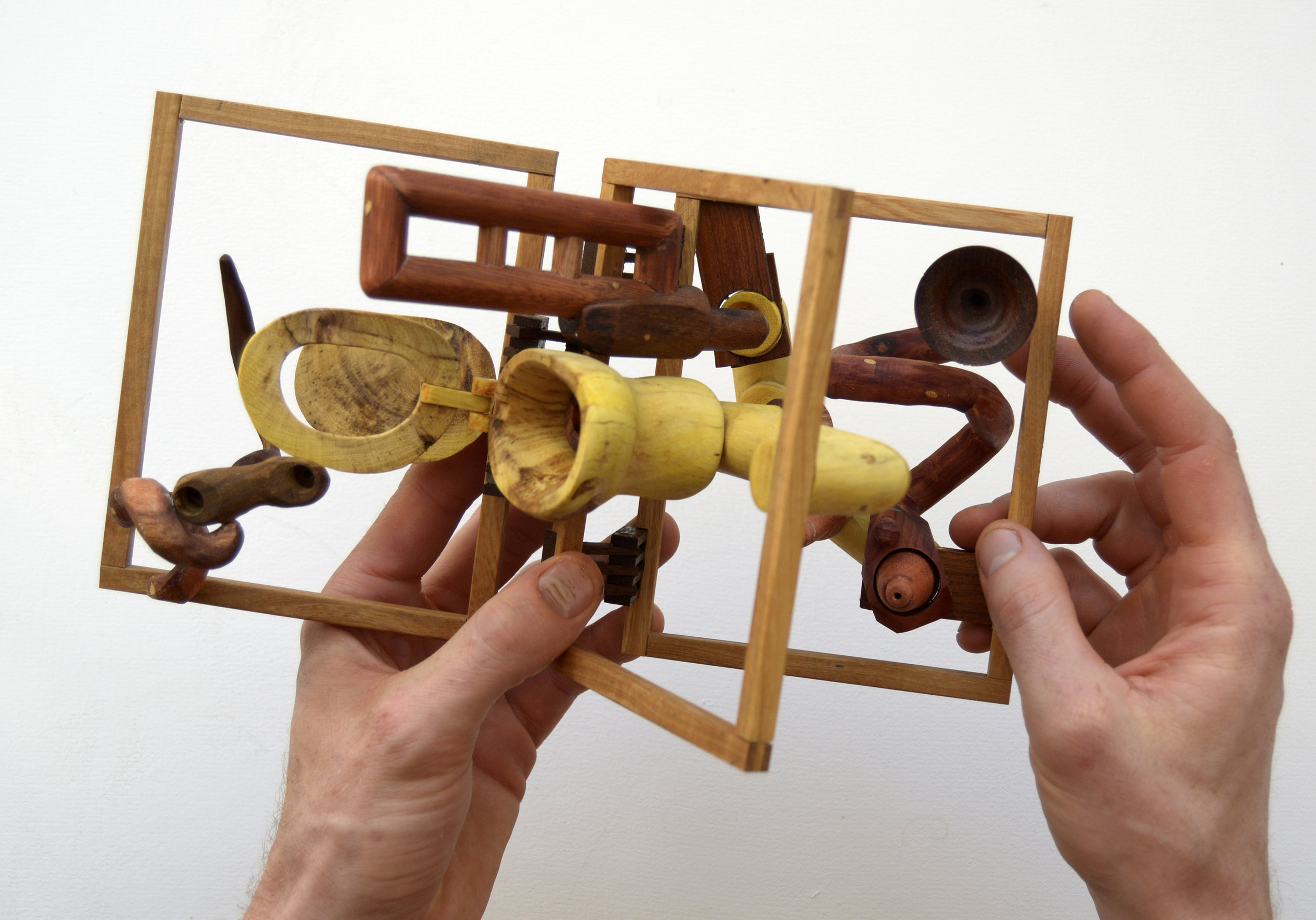 """But Patricia, I just don't understand why did they have to throw us with it?"" - Allen Laing Artist Wood Sculpture.jpg"
