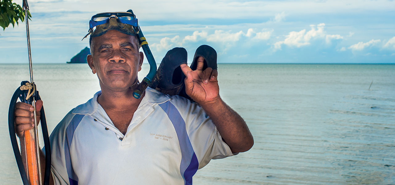 """""""I don't know if our future generations will be able to witness this fish.""""   Lisala Waqalala, Fisherman"""