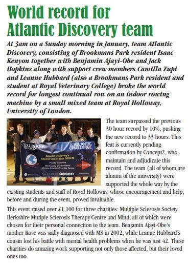 Made it into Isaac's local newspaper - Potters Bar News