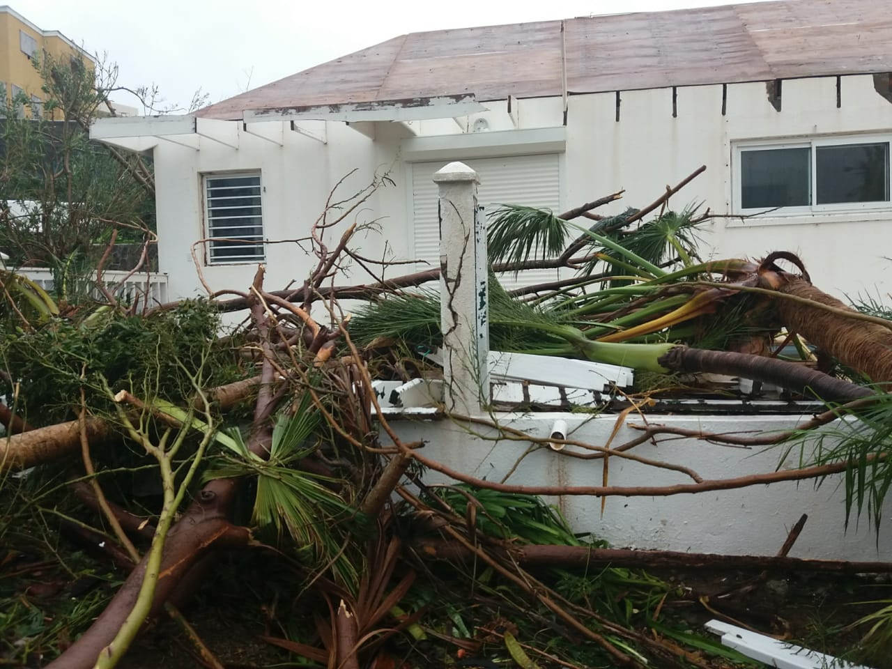 Kyria's home after the  Hurricane Irma  had passed.