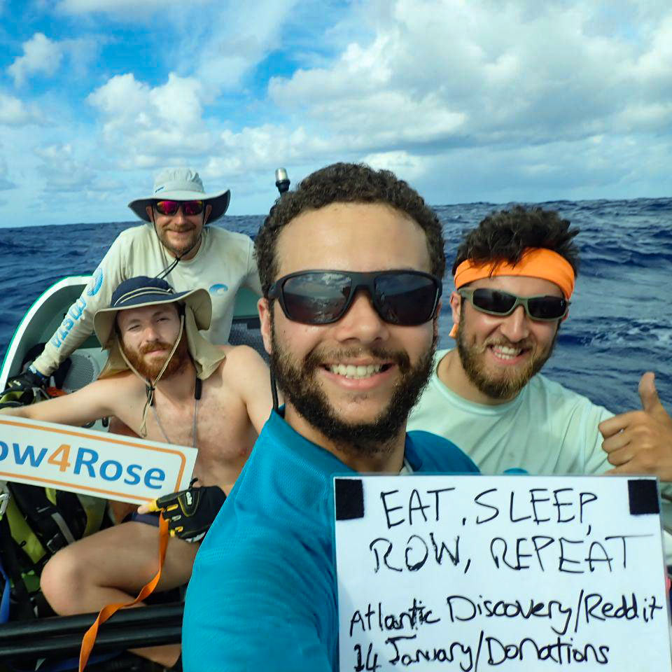 They're salty, scruffy, bearded and exhausted, but they want you to ask them anything so they can raise money for their MS charities on their extreme 3,000 mile row.