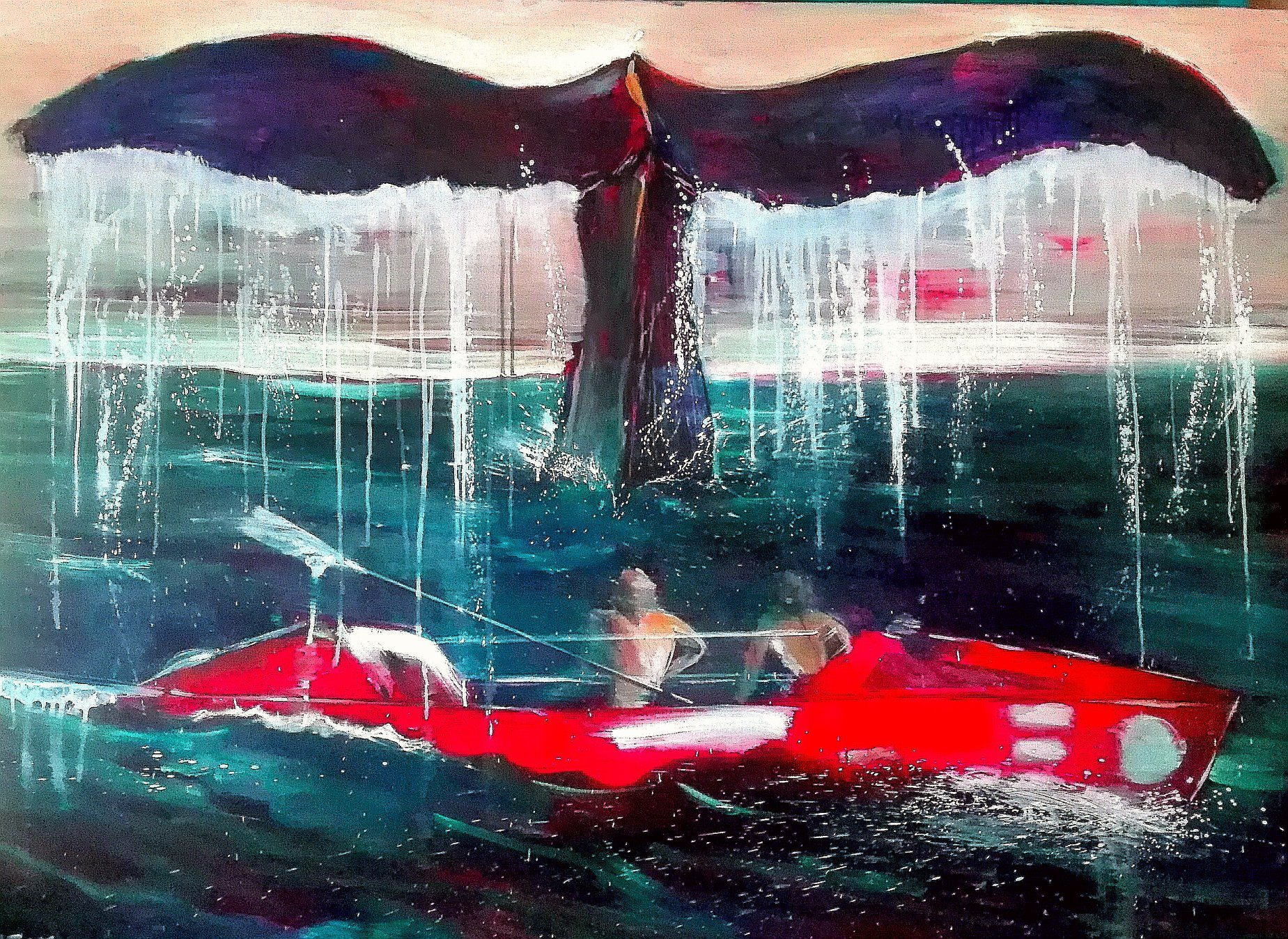 A remarkable painting (and my personal favourite) by Alfonso Andériz, Ballena - Whale, oil on canvas, 97 x 130cm - 2018