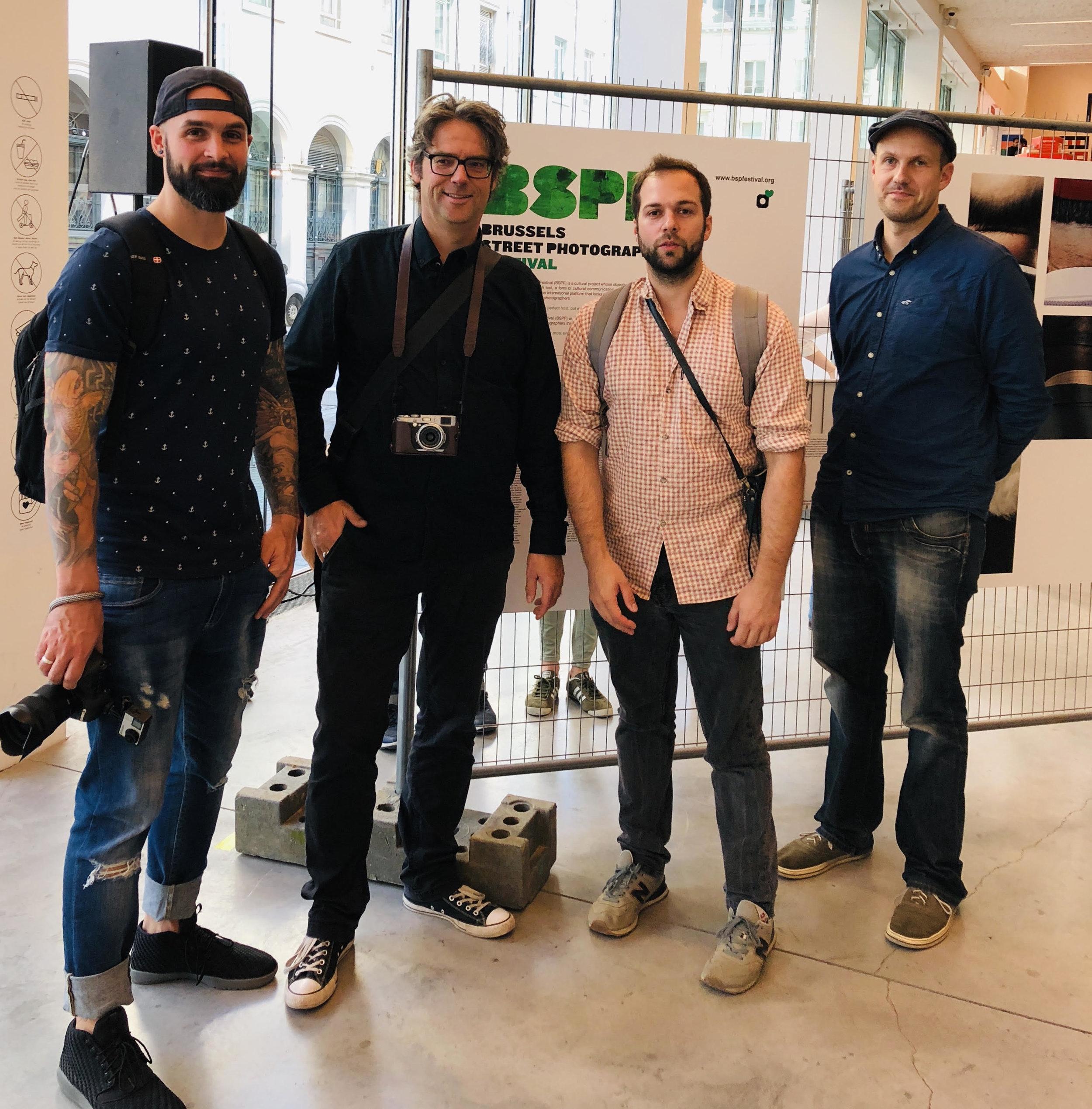 Das SPC-Team in Brüssel: v.lnr. Christopher Reuter, Sven Hoffmann, David Skokouhbeen, Andreas Ott.