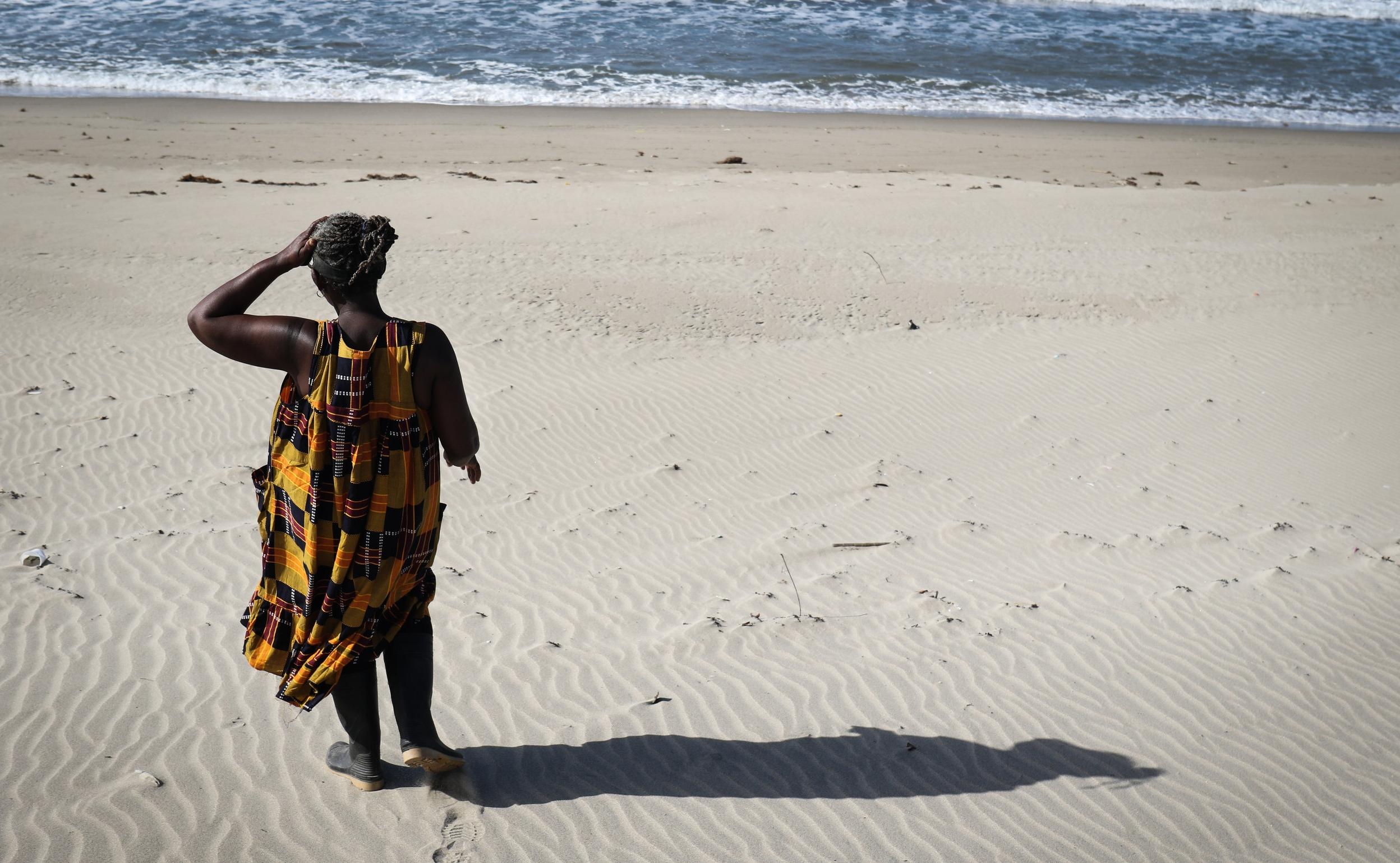 Francisca Arreola, a Garifuna woman, on the Caribbean coast of Honduras