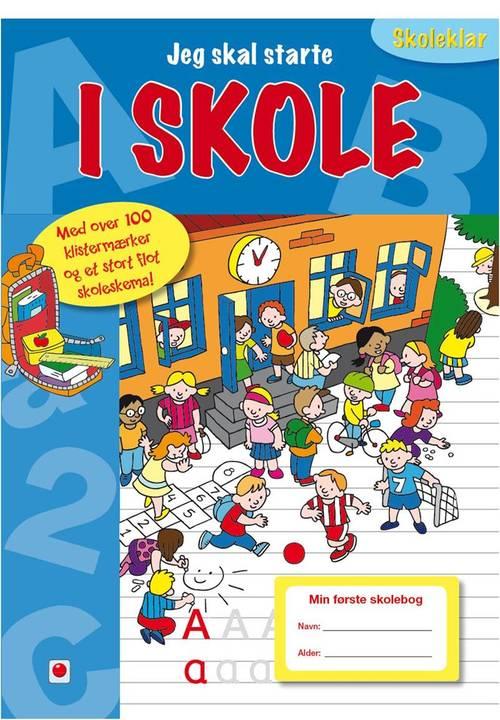 Jeg skal starte i skole - Dette er en skolebog med introduktion til den kommende skolestart. At starte i 0.klasse er en stor begivenhed, som barnet glæder sig til. Med denne bog kan barnet 'øve sig' på skolestarten, hvor de sjove opgaver og de mere end 100 klistermærker introducerer emner som alfabetet, tallene 1-10, trafik, klokken, klasselokalet, skoletasken og meget mere.