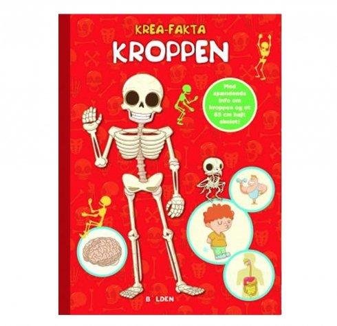 Krea-fakta om kroppen - Begiv dig på en spændende rejse ind i kroppen! På de første sider i bogen finder du en skabelon af et 85 cm højt skelet, som er lige til at klippe ud, samle og hænge op! Siderne er perforerede, så de er lige til at hive ud, inden du går i gang med at følge den nemme vejledning.