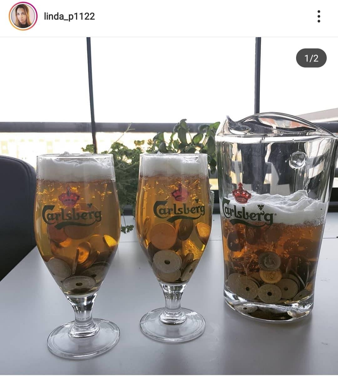 Instagram: Linda_p1122 har her lavet GAVEN til øl elskeren - den er da PERFEKT! Bland lidt husblads i øllen og den stivne lidt og kom så mønterne i, så de ikke alle falder til bunden. Vi er vilde med dem!