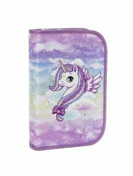 Penalhus Unicorn Beckmann inkl. indhold og en lille aftagelig pung - 149,00kr.