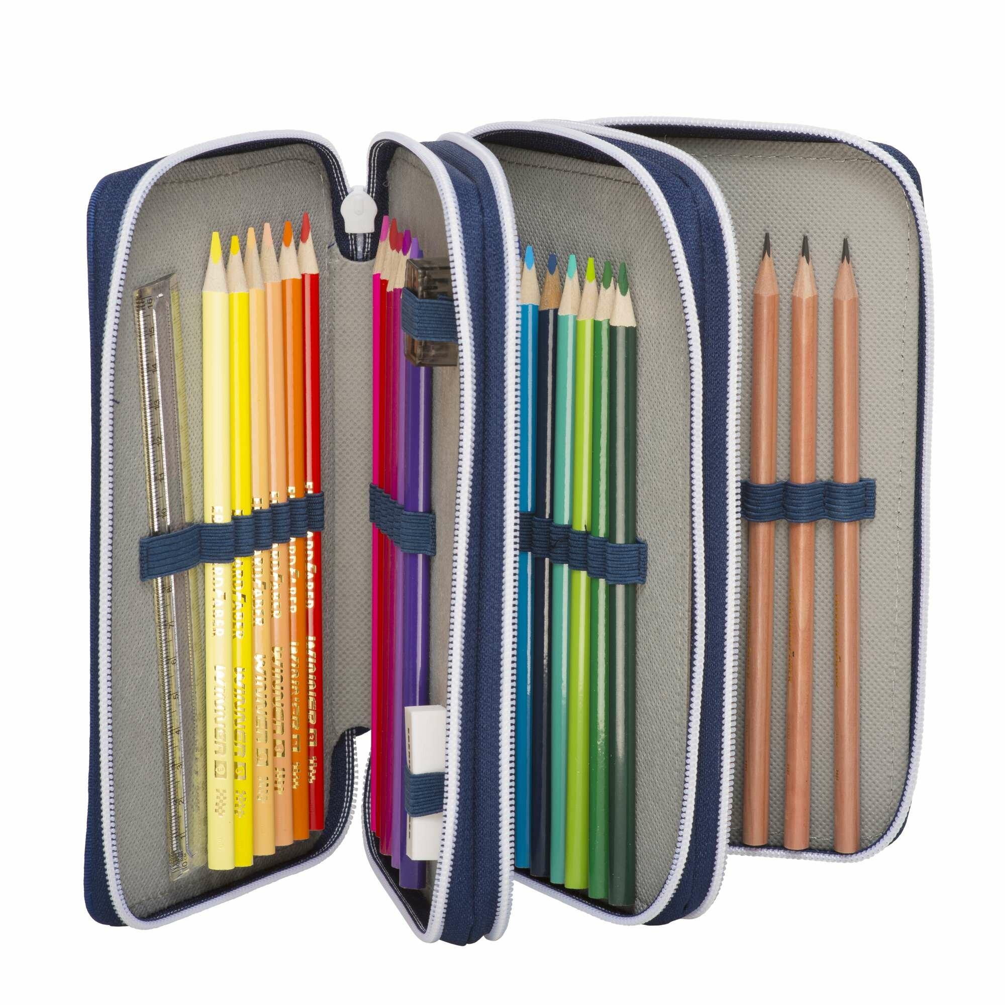 Beckmann Penalhus til børn - inkl. indhold, en lille tegneblok og plastlomme til skoleskema. Pris: 249,00kr.