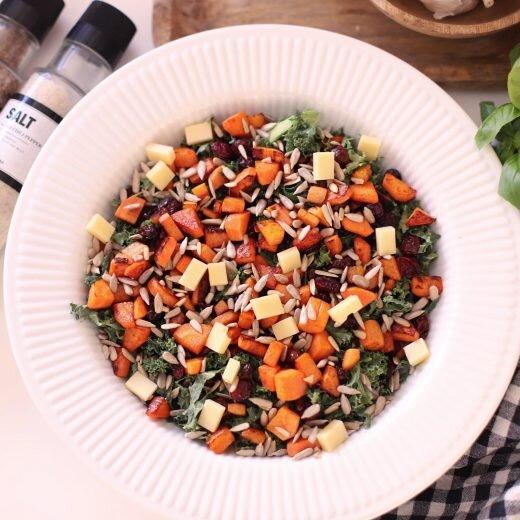 Vintersalat - Med stegte gulerødder