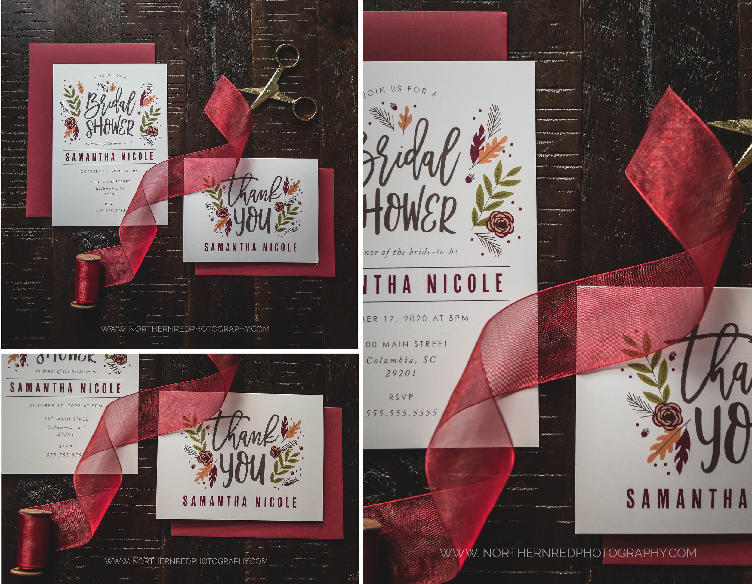 autumn bridal shower invitation