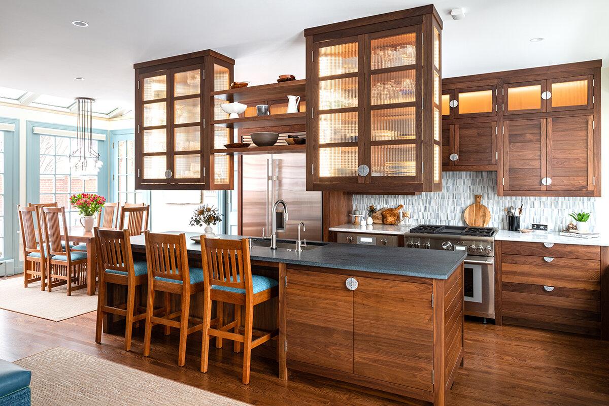 Walnut Kitchen Drury Cabinetry