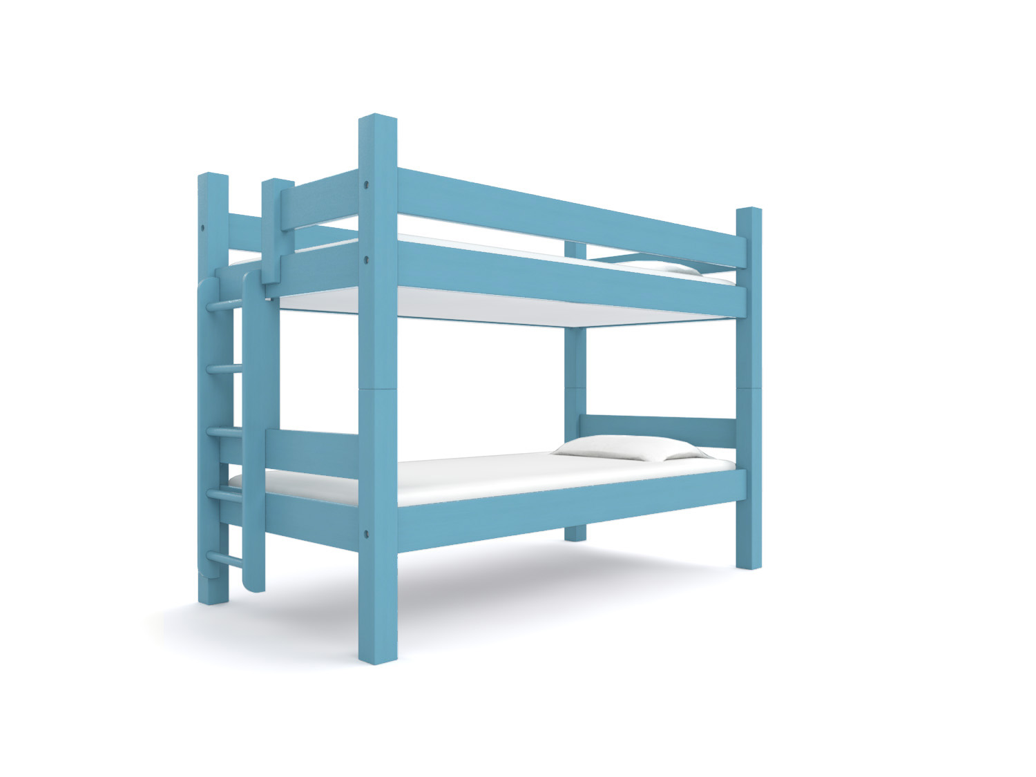 """ ACADIA "" Twin-over-Twin  - Our classic Twin bunk. Two 75"" long twin beds are stacked together. Options: Trundle or built-in storage drawers, ""Porthole"" ladder, extra safety rail. Made to hold adults.  Starting at $2195:   Click for Custom Quote"