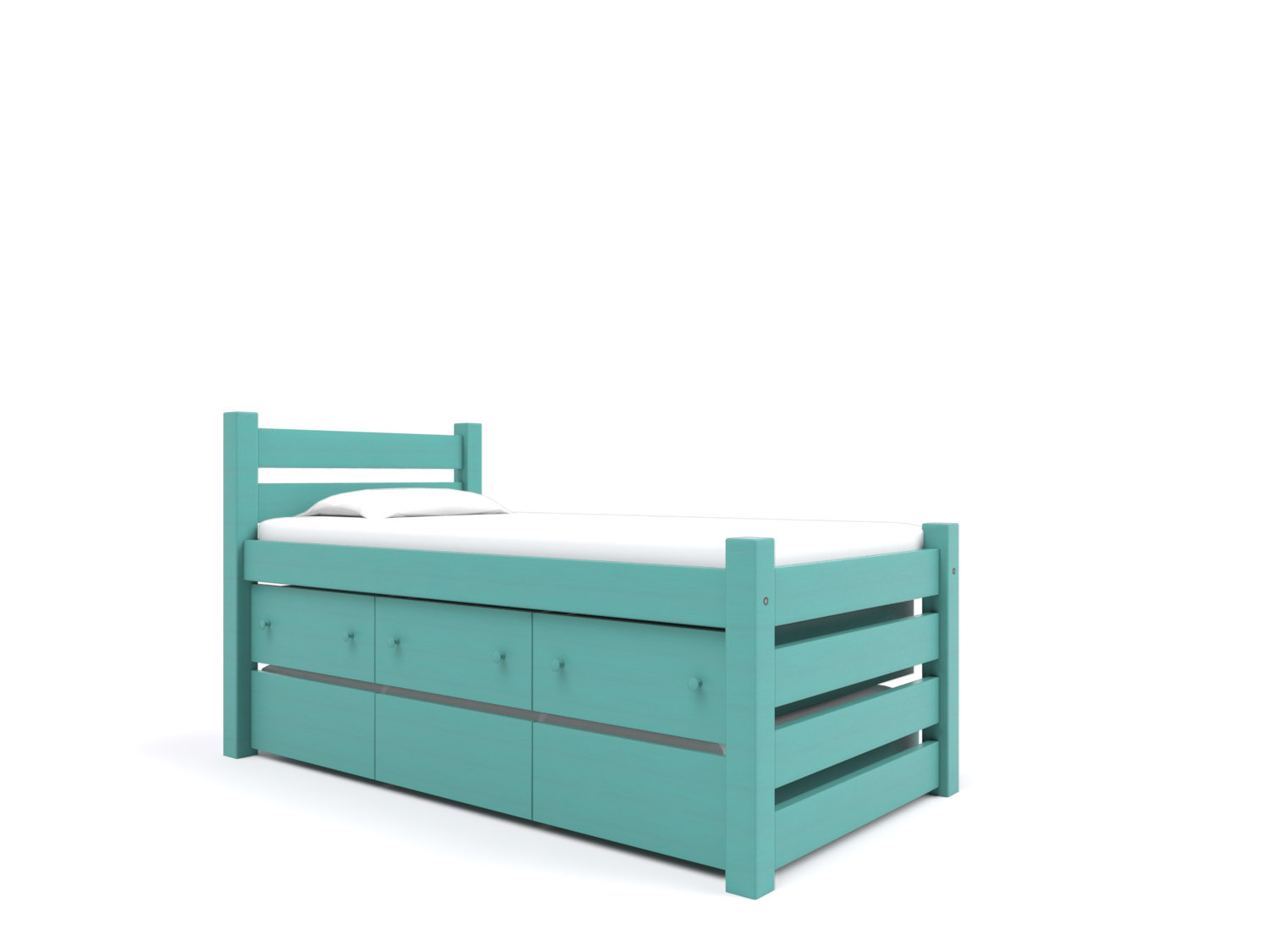 Maine Captain's Bed  - Includes a Trundle under three built-in Storage Drawers. Holds a twin or full-size mattress.  Starting at $2650:   Click for Custom Quote