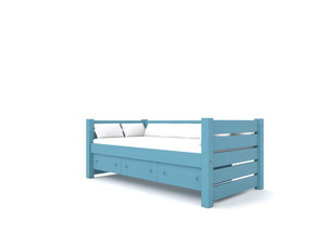 Maine Daybed  -  Our classic Daybed with built-in Storage Drawers. A Trundle can be substituted for the Darwers. Holds a twin or full-size mattress.  Starting at $1650:   Click for Custom Quote