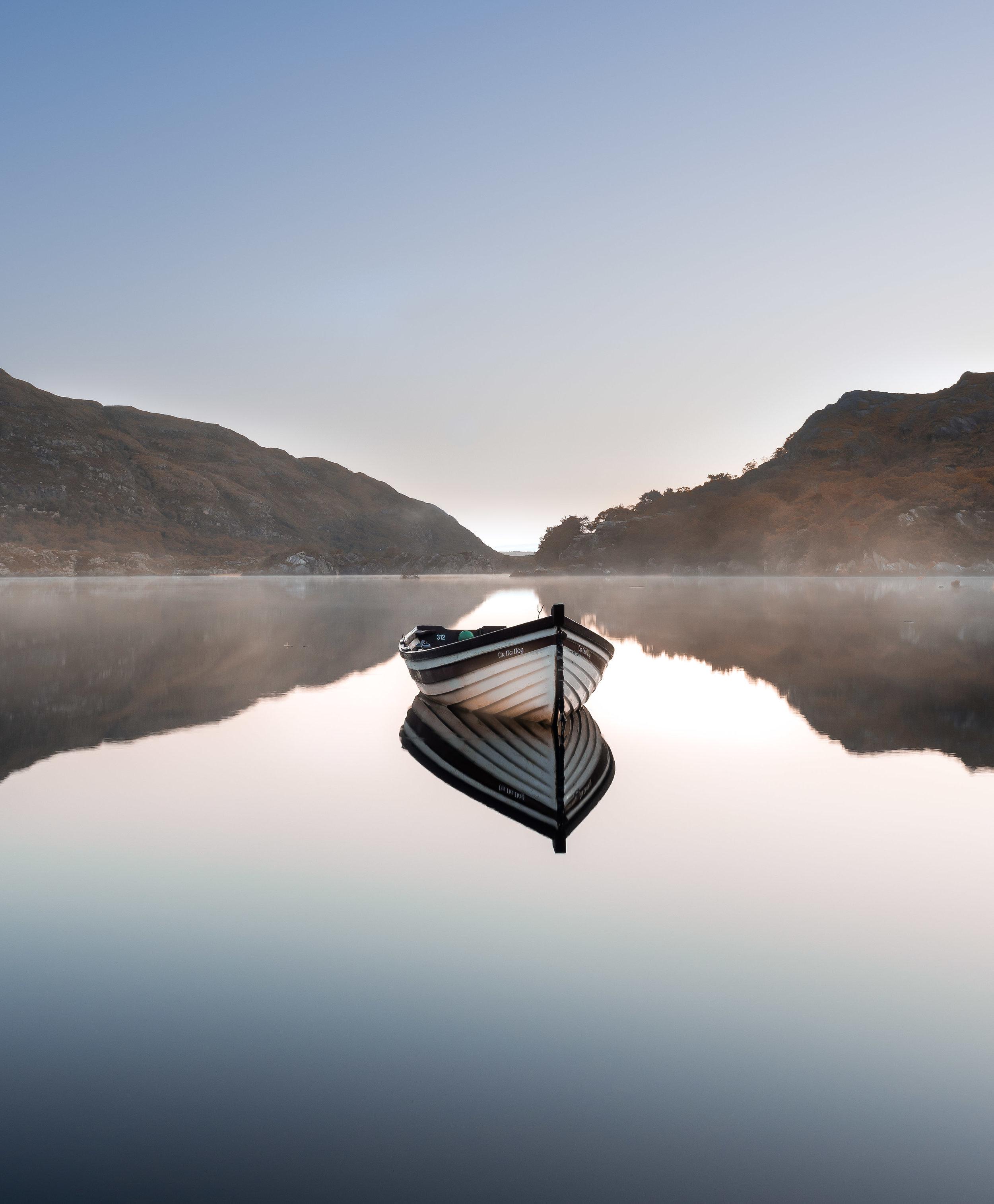 Pin sharp reflections on Killarneys upper lake