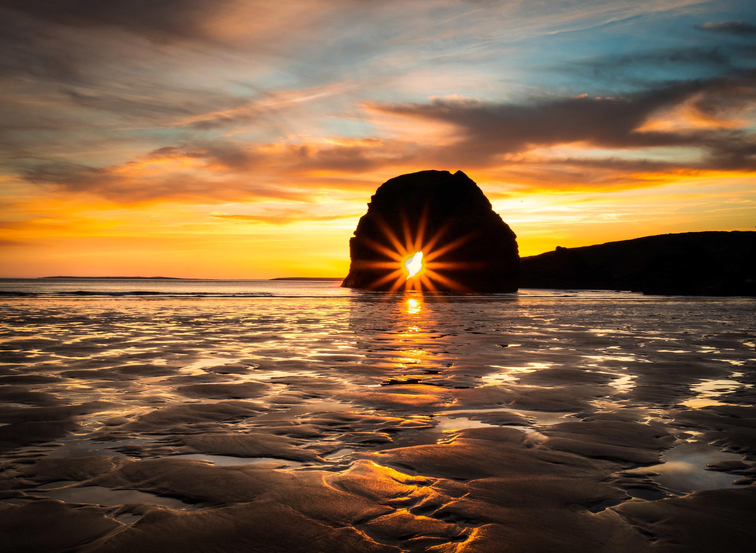 Have you ever seen the sun pass through the sea arch at Nun's Beach, Ballybunion?