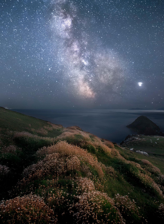 Milky Way over Dunmore Head in Dingle, Co Kerry