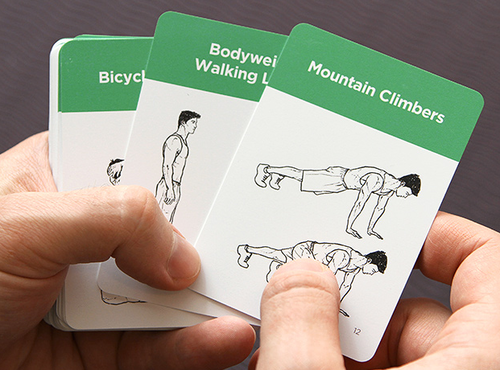 Example of a Deck of Workout Cards. Workout Labs available on Amazon. Link below.