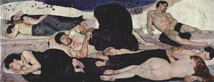 """Night"" by Ferdinand Hodler - 1899/90 -  Museum of Fine Arts Bern"