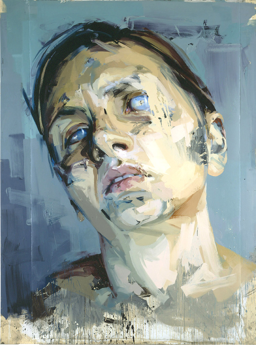 """Rosetta II"" by Jenny Saville - oil on watercolour paper mounted on board - 2005/06"