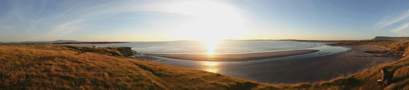Jan enjoying the sunset at Rosses Point, Sligo.