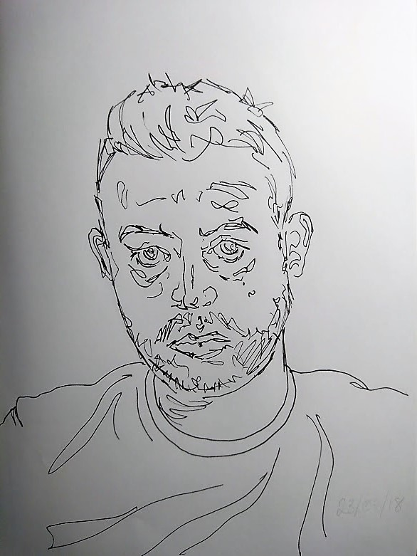 A five minute self portrait study