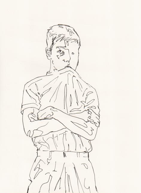 """Moth Man"" Pen on Paper ©2018"