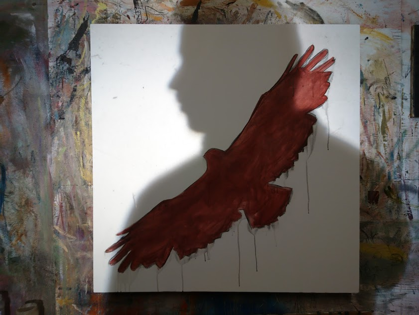 Life-sized buzzard started.