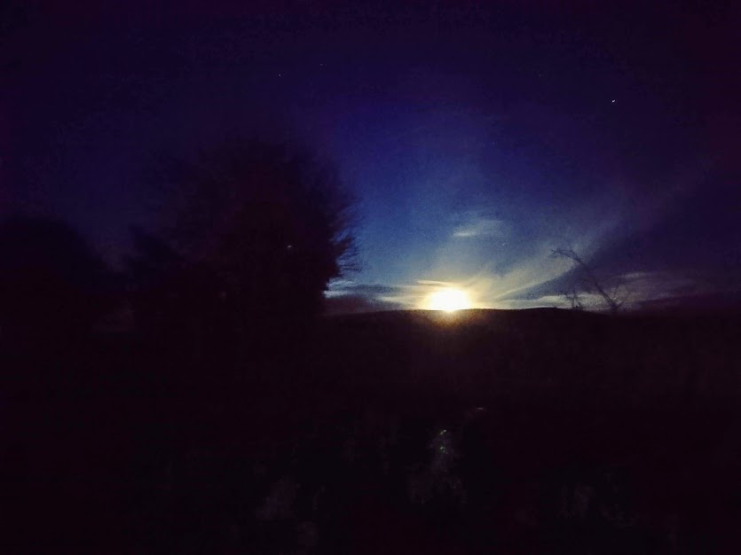 Moon-rise over Glenshane.