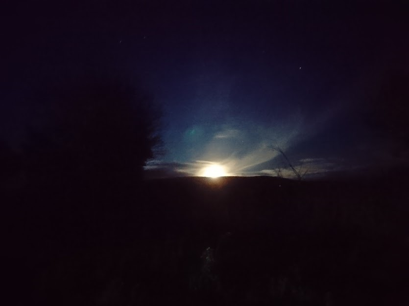Moon-rise over Glenshane
