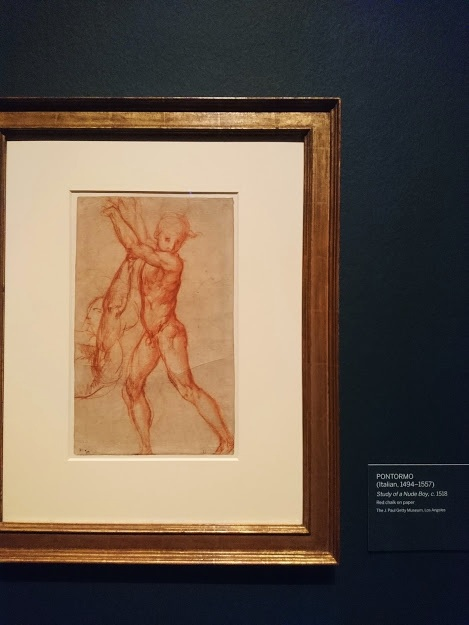 """Study of a Nude Boy"" by Pontormo"