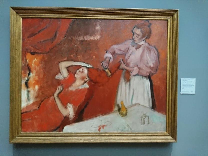 """""""La Coiffure"""" by Degas"""