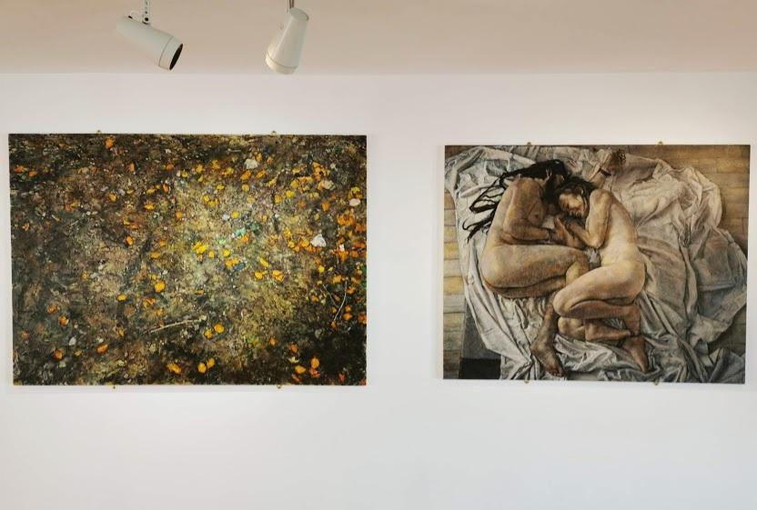 Patrick Horan's fantastic paintings in the Ards Art Centre's Sunburst Gallery.