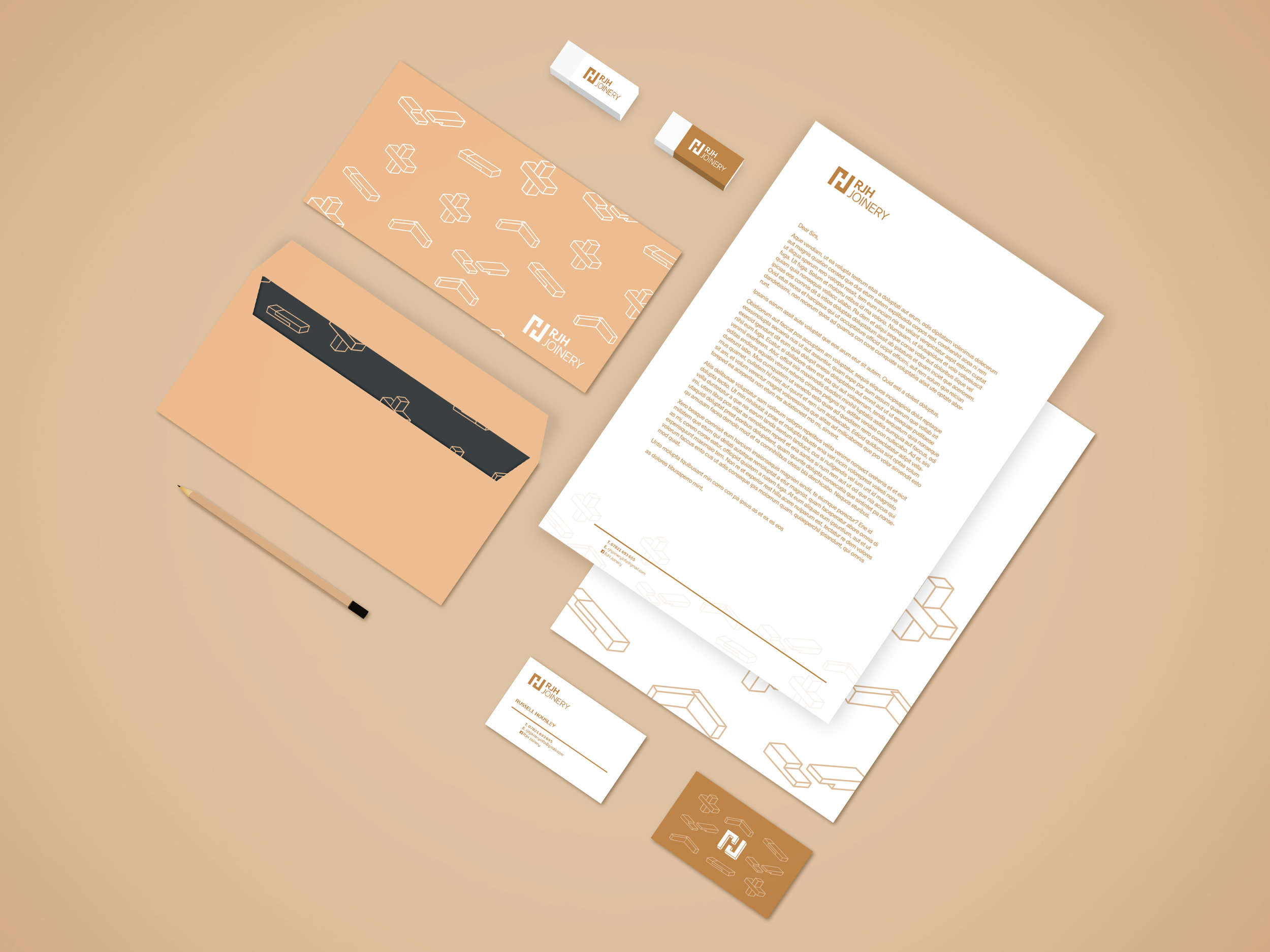RJH Joinery Stationary - Branding Development - Graphic Design Sheffield
