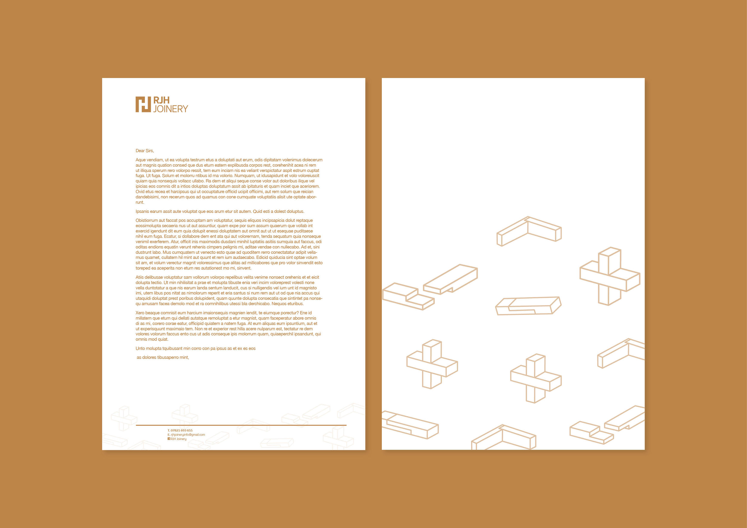 RJH Joinery - Letterheads - Branding Development - Graphic Design Sheffield
