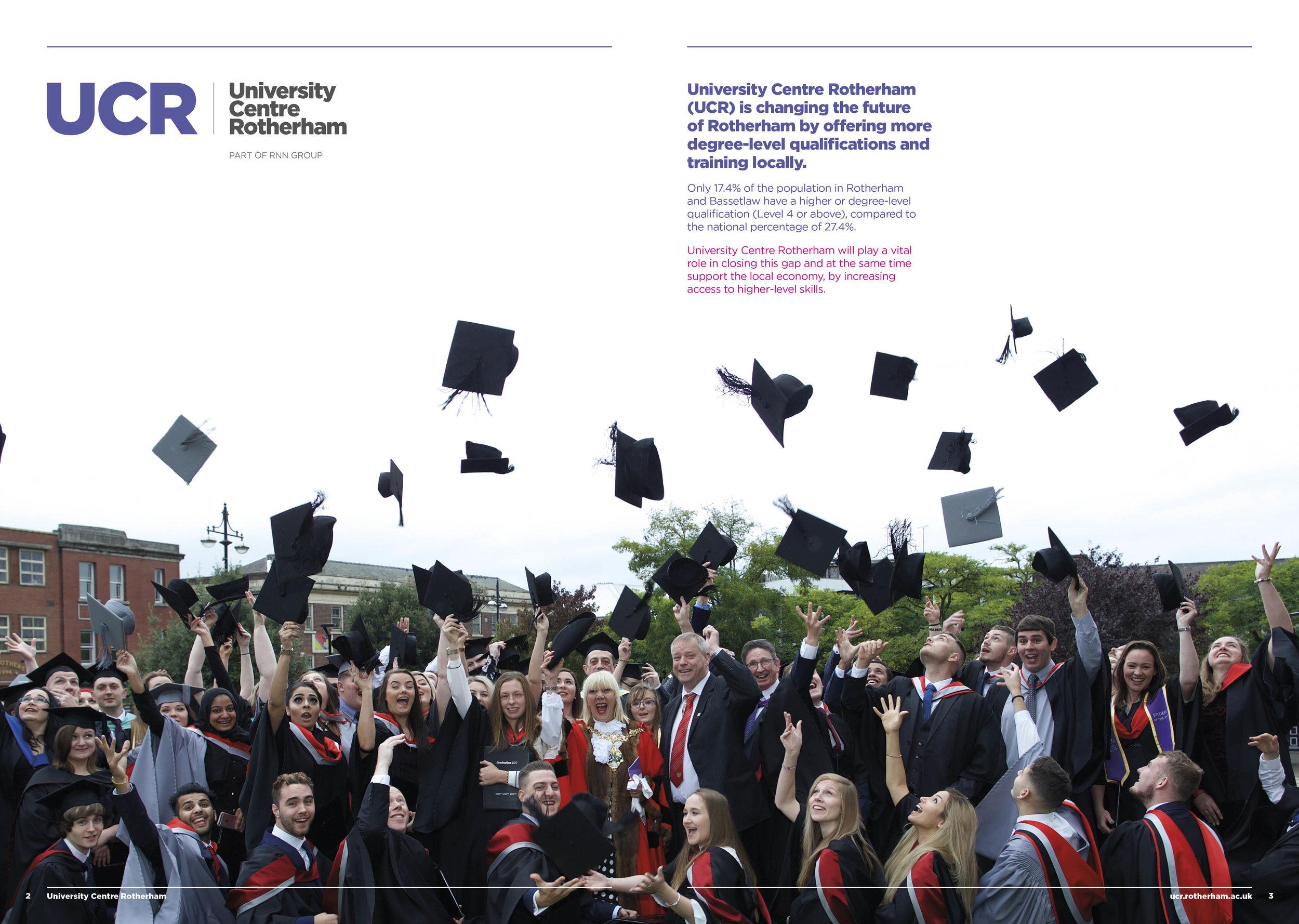 University Brochure Design - Publication Design - Graphic Design Sheffield