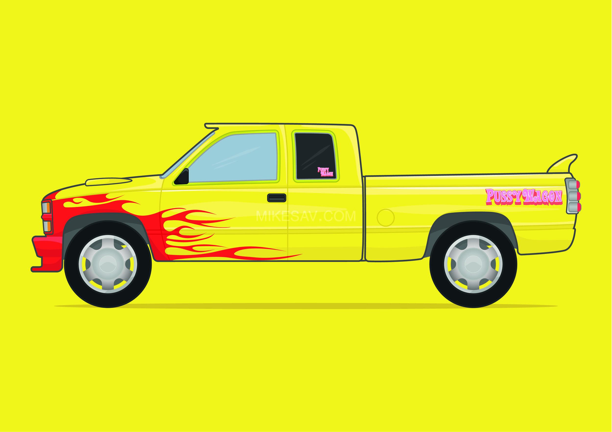 Chevrolet Silverado (Pussy Wagon) / Kill Bill (2003) / Director: Quentin Tarantino