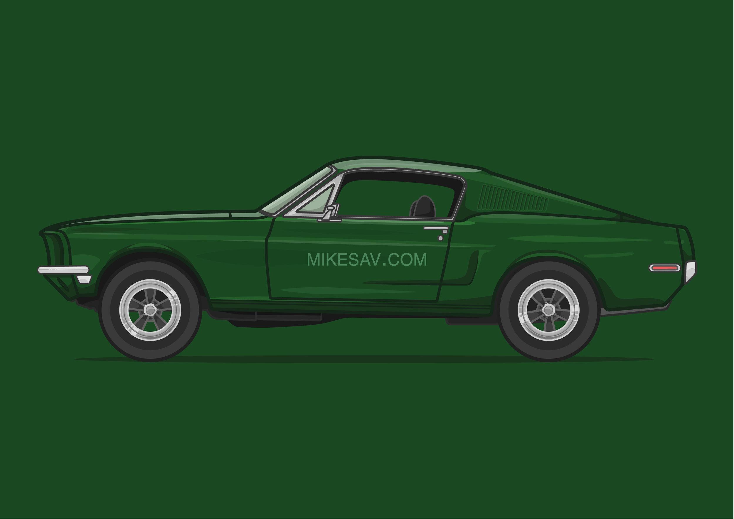 Ford Mustang Fastback / Bullitt (1968) / Director: Peter Yates
