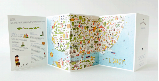New Voyager kids' map of Lisbon