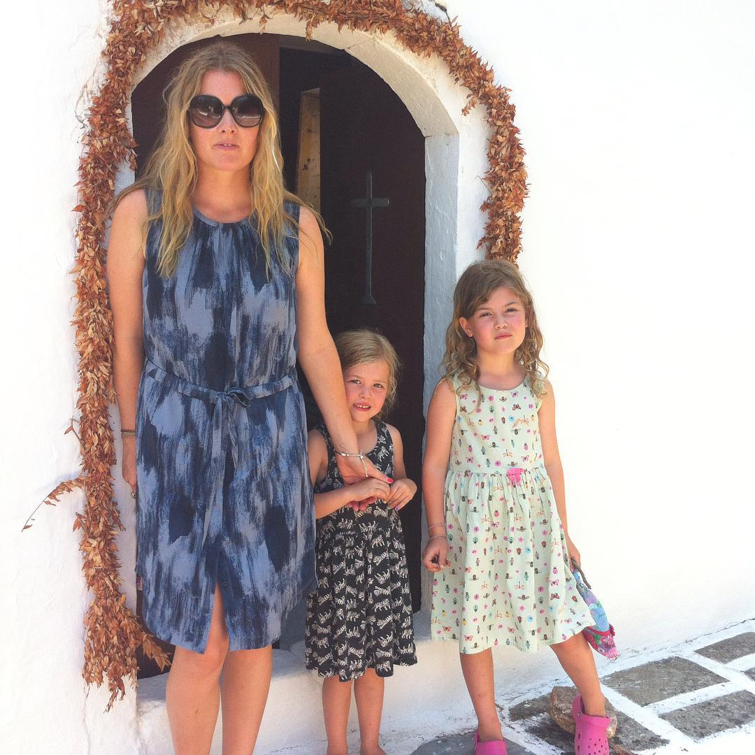 Emma with her daughters Cleo, seven, and Lola, nine.