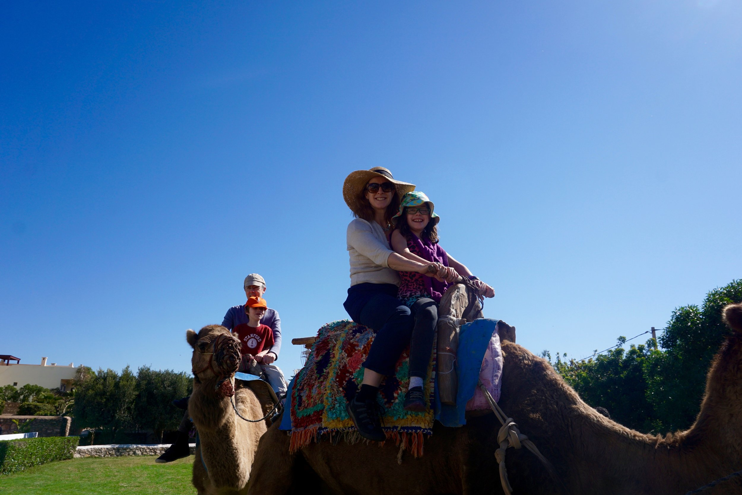 Nadine Meller and family CamelRide Morocco.jpg