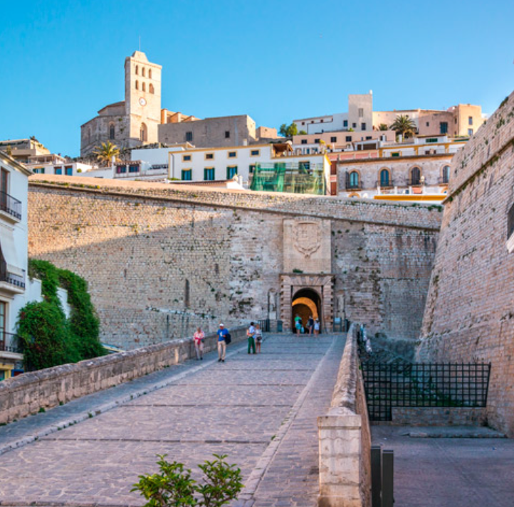 4. The awesome fort - I have so many memories of my parents and I visiting Roman aqueducts and Greek amphitheatres. A touch of culture doesn't have to be boring. Visit the old town of Eivissa, Dalt Vila with its towering walls, cathedral and cobbled streets. You can climb to the top and walk along the ramparts of this 2,500 year old world Unesco site. There are canons to climb upon and views over towards the island of Formentera. This Phoenician and Roman fortress with its walled town has so much charm. We like to visit in the early evening when the temperatures are cooler and then choose one of the bustling restaurants along the main passage to eat al fresco.